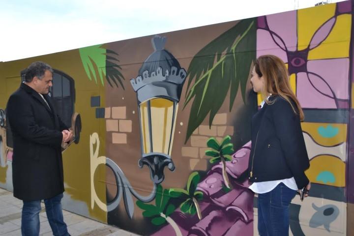 Un murale di Iker Muro