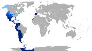 wikipedia diffusione lingua spagnola