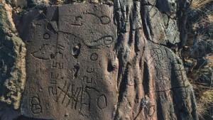 canarie grabado rupestre