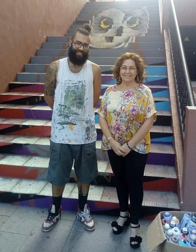 Los Realejos colorea otra de las escalinatas urbanas
