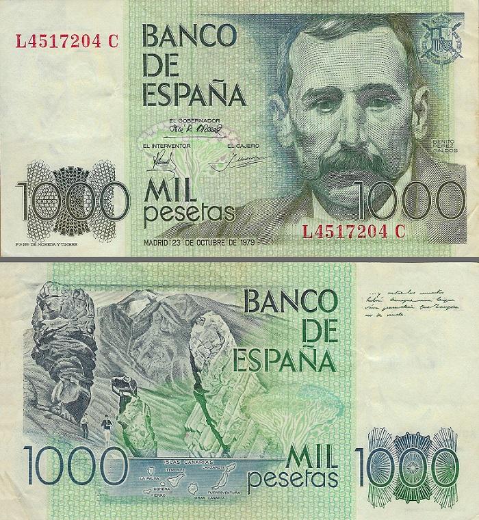 Benito Perez GALDOS pesetas 1978